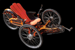 Liegerad aus Carbon - orange-trike